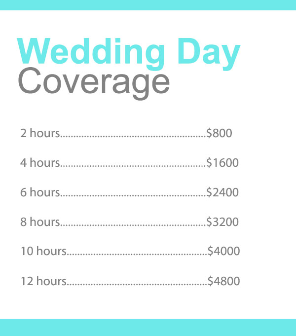 Spagnolo Photography - Boston Wedding Photography - Pricing